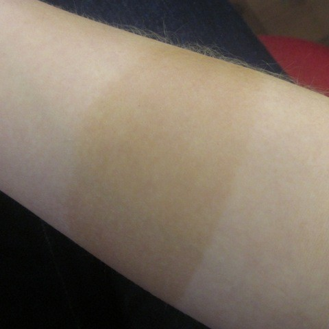 Famous Dave's self tan mousse swatch