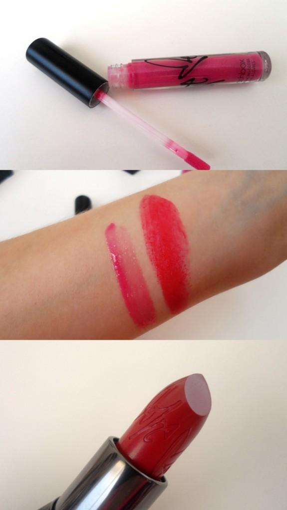 Top: Smashbox lip enhancing gloss in Adore Me. Bottom: Smashbox Be Legendary lipstick in Love Me.