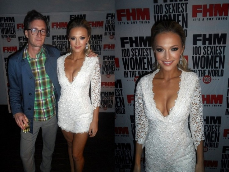 FHM Ed Brendan Cooper (a darling just so you know) and the mag's hottest chica, Ms Melinda Bam