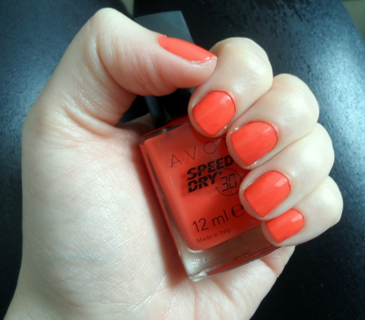 AVON Speed Dry nail polish in Orange You Quick