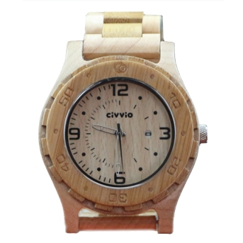 Civvio carbonised bamboo/maple blend watch