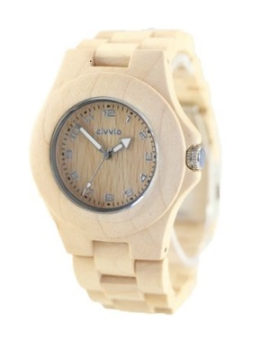 civvio maple wood watch