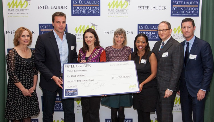 The Lauder group and a very chuffed Mr Neethling