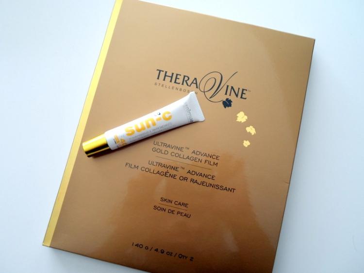 Nimue sun-c sunscreen and TheraVine Ultravine Advance Gold collagen film