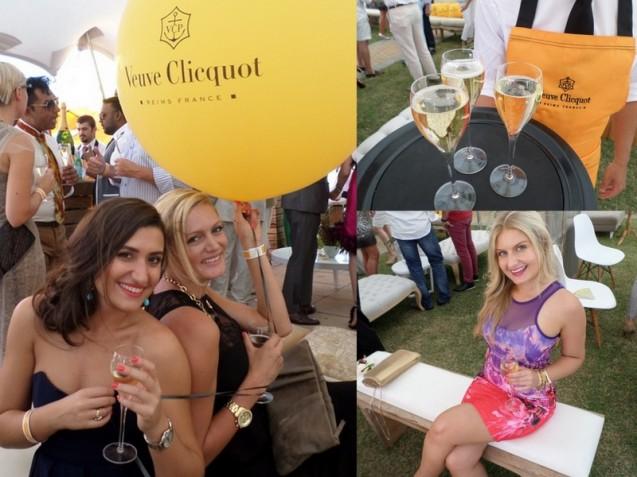 Elizabeth Arden's Alice Carderelli and Victoria Jackson say 'Cheers'.