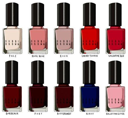 Bobbi Brown's new nail polish collection