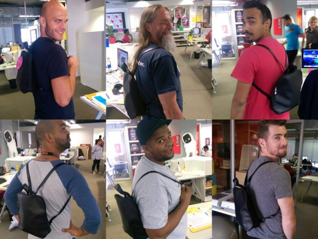 Back packs and blue steel in yo face!