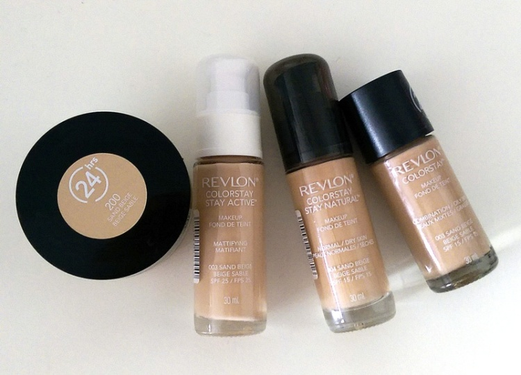 From left to right: Mousse, Active, Dry and Combo.