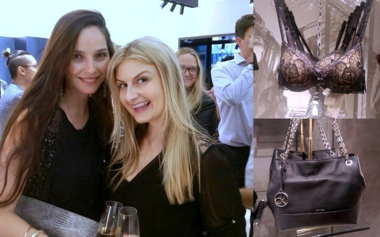 Myself and Glamour's fashion director Bronwyn Day plus the prettiest bra I've seen in ages.
