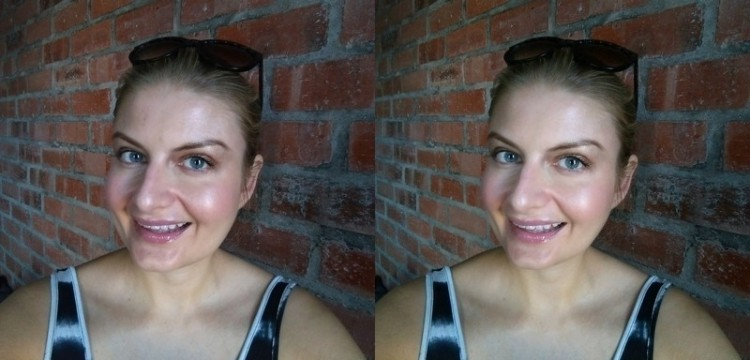 Me totally untouched on the left and spruced up on the right.