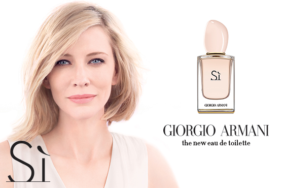 Again, actress Cate Blanchett, the personification of sophisticated elegance, is the face.