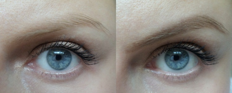 Sad brows needing the Rapidlash I always forget to apply on the left and happy brows in Arden's new pencil on the right.