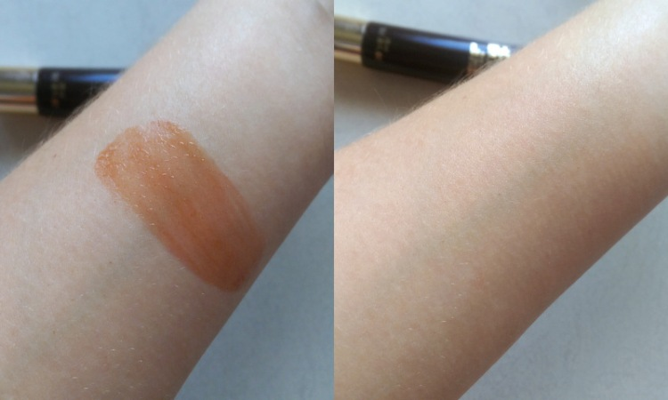 This is the colour result of the face gel.