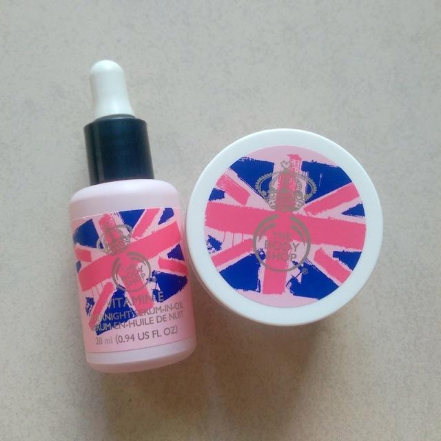 The Body Shop Vitamin E Overnight Serum-In-Oil (R155) and Aqua Boost Sorbet (R135).