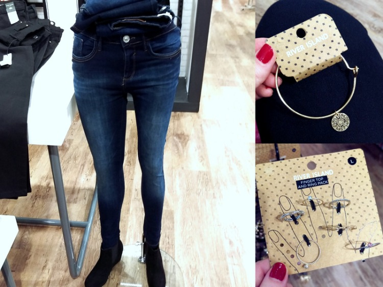 More River Island loveliness. Their jeans are about R800 a pop, I think.