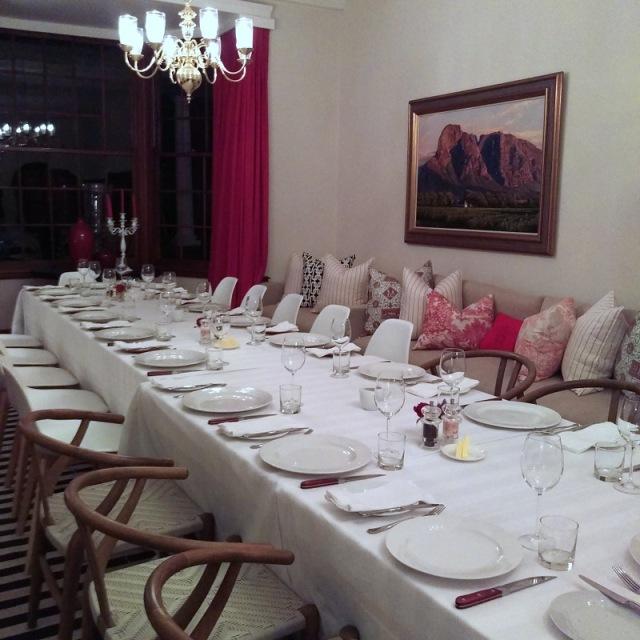 Elegant dining.