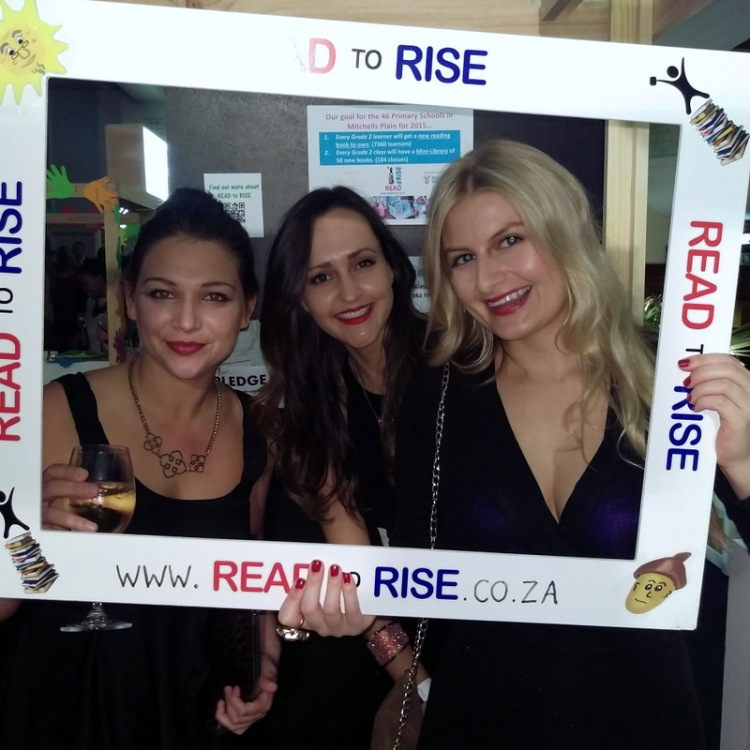 Kim, Karisa and myself hanging out at the Read to Rise stand.
