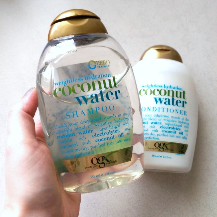 OGX Coconut Water shampoo and conditioner