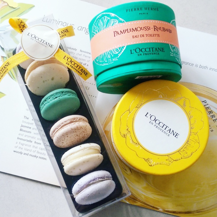 To celebrate the launch L'Occitane had MaMere create bespoke macaroons reflecting the scent.