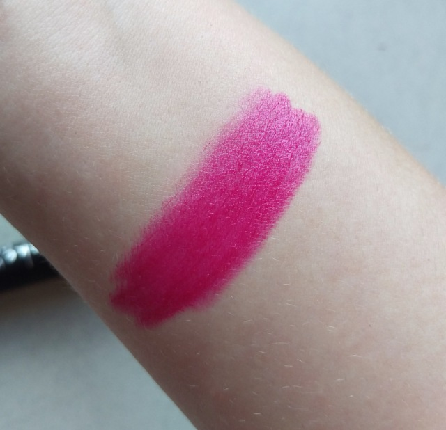 This shade's called Scarlett Berry and it feels nice and hydrating on your lips.