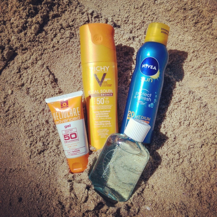 My sunscreen Dream Team.