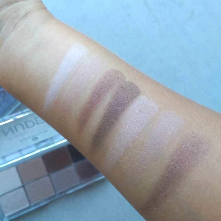 Essence All About Nudes eye shadow palette swatches