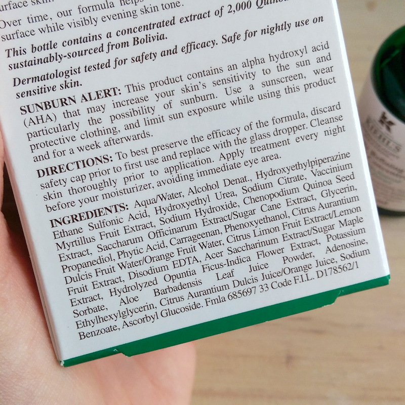 Review Kiehl S Nightly Refining Micro Peel Concentrate