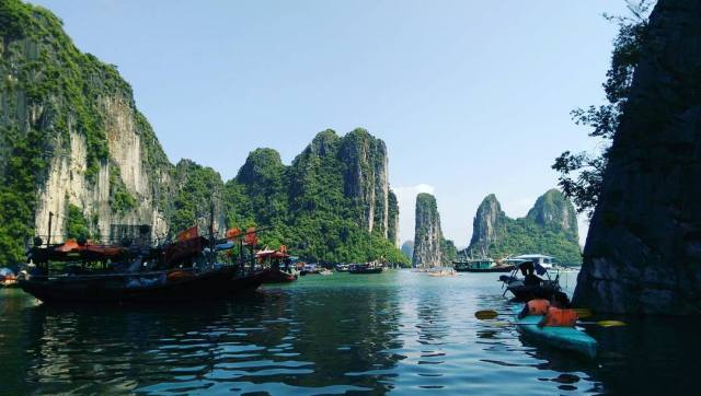 Ha Long bay was hideous as you can see.