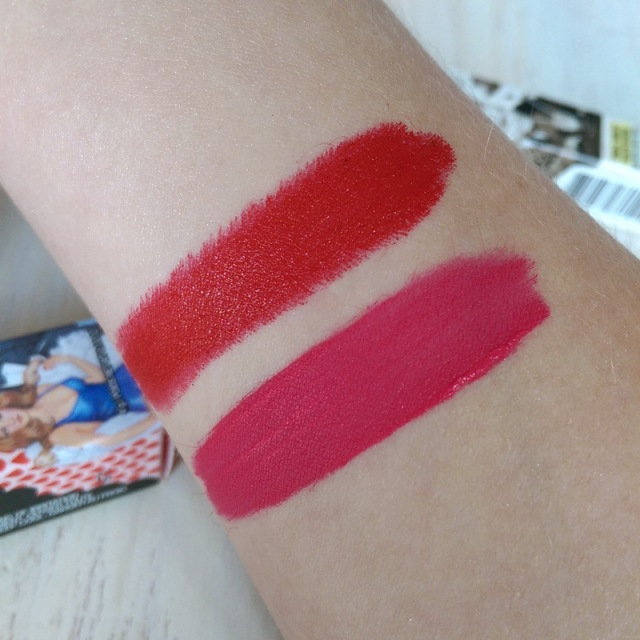 How fabulous is the pigmentation? When the long-lasting lippie wears off it leaves a nice stain in its wake.