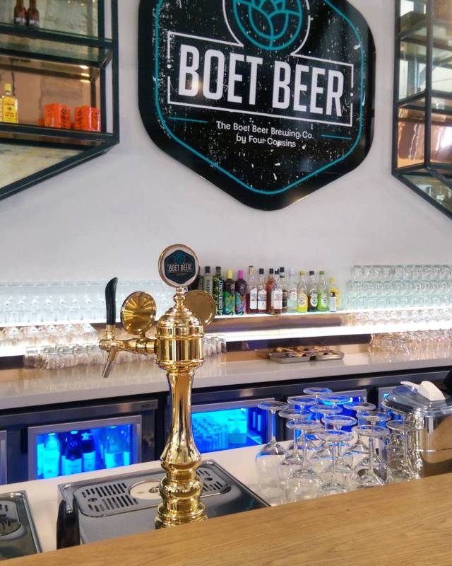 Craft beer on tap.