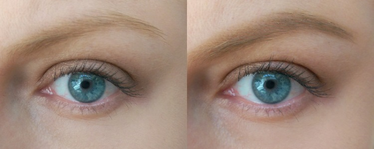 You'll see it fills in but doesn't darken my brow as the colour's a perfect match.