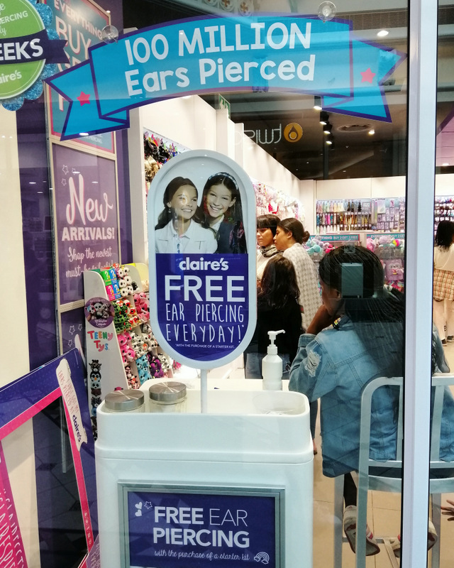 Giveaway I Got My Ears Pierced At Claire S And Have A R500